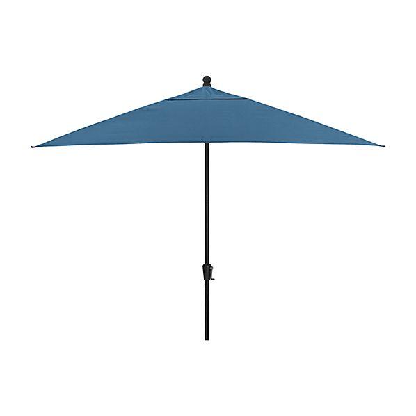 Rectangular Sunbrella ® Turkish Tile Patio Umbrella with Black Frame