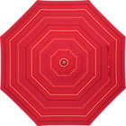 9' Round Red Tonal Stripe Umbrella Cover.