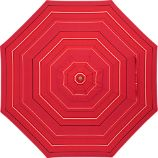 9&#39; Round Sunbrella Red Tonal Stripe Umbrella Cover