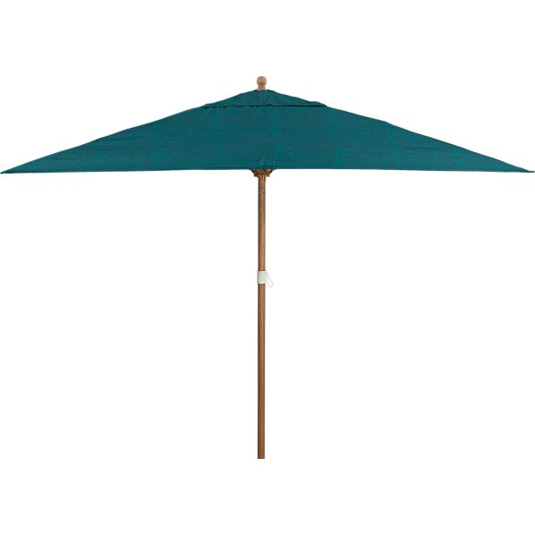Rectangular Juniper Umbrella with Eucalyptus Frame