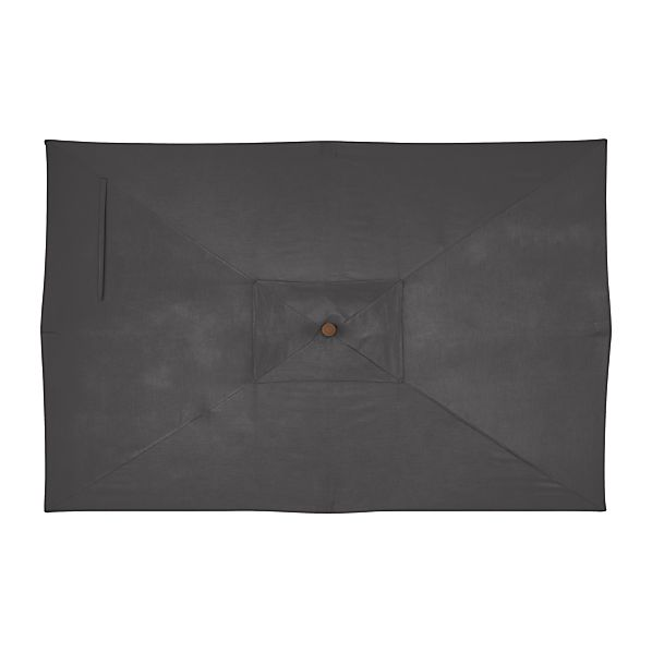 Rectangular Sunbrella ® Charcoal Umbrella Cover