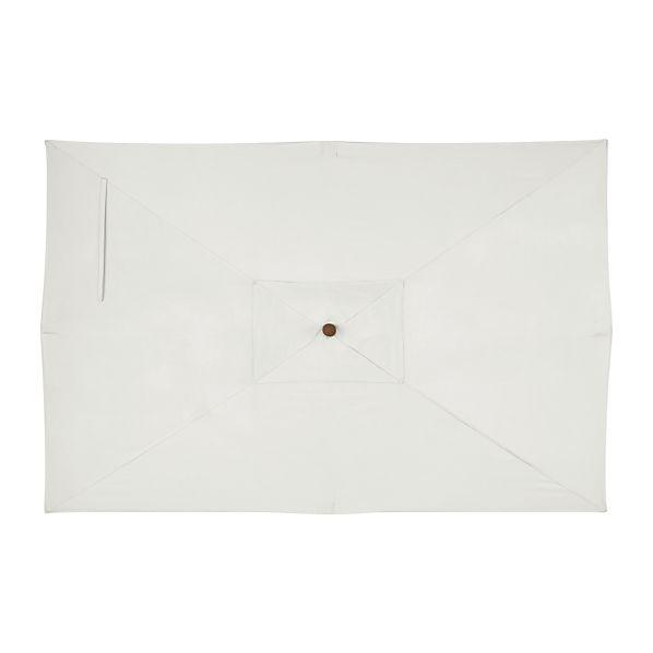 Rectangular Sunbrella ® White Sand Umbrella Cover