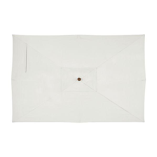 Rectangular Sunbrella ® White Sand Umbrella Canopy