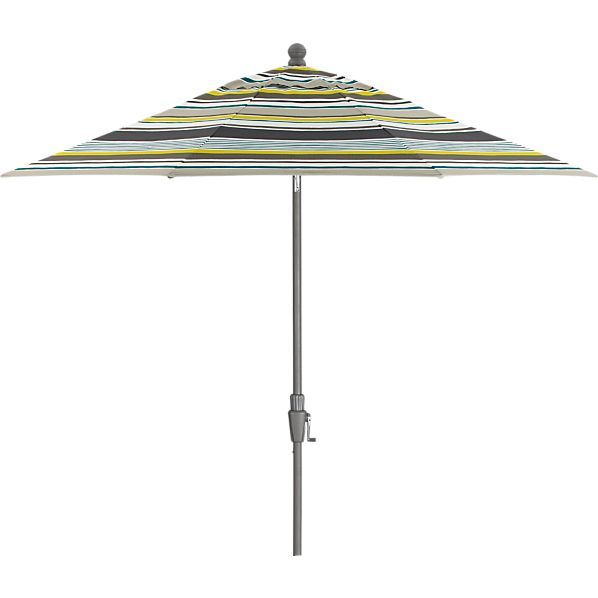 9' Round Arroyo Umbrella with Silver Frame