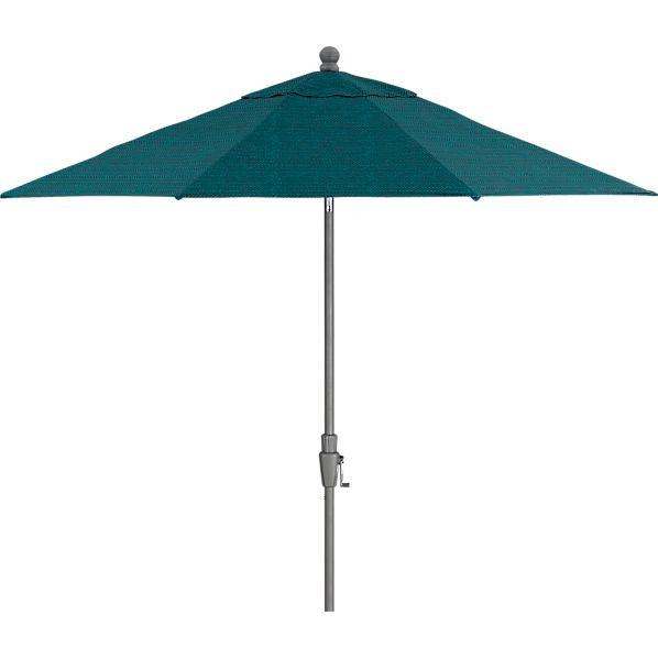 9' Round Juniper Umbrella with Silver Frame