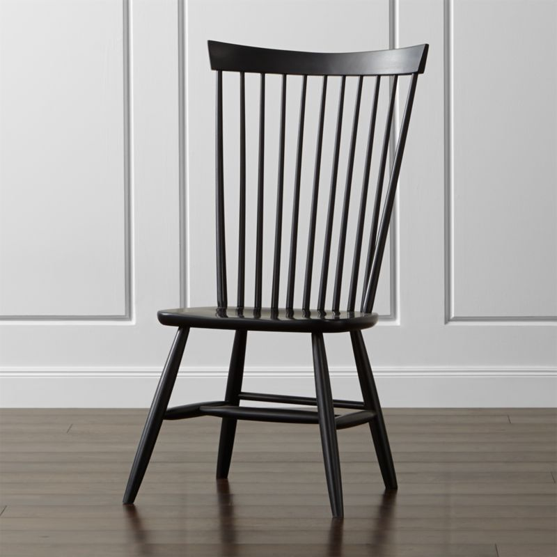 A collective of rural-based, family-owned workshops collaborated on the manufacture of this update on the classic American Windsor chair. Traditional in spirit, Marlow streamlines and rescales the look in sustainably sourced maple.  <NEWTAG/><ul><li>Frame is made in the USA with sustainably sourced solid maple</li><li>Black catalyzed lacquer finish</li><li>Made in USA</li></ul><br />