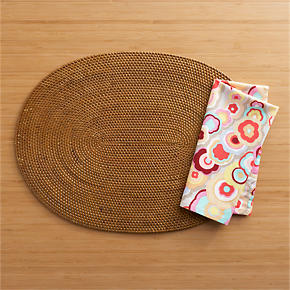 Marquesas Placemat and Octavio Natural Napkin