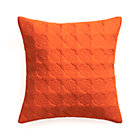 Marvis Orange Pillow with Feather Insert.