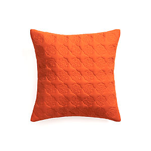 "Marvis Orange 20"" Pillow with Down-Alternative Insert"