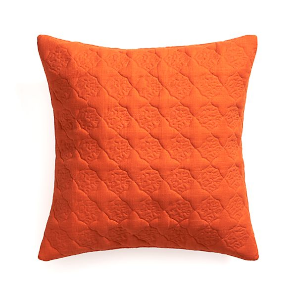"Marvis Orange 20"" Pillow"