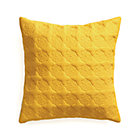 Marvis Yellow Pillow with Down-Alternative Insert.