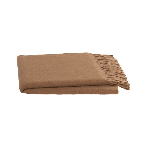 Mateo Camel Alpaca Throw