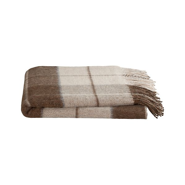 Crate and Barrel - Mateo Plaid Alpaca Throw