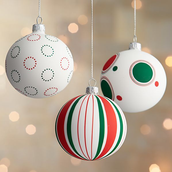 Matte Design Ball Ornaments
