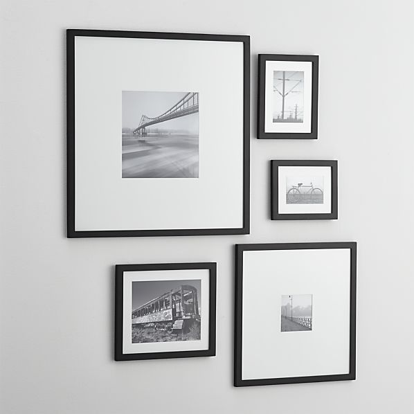 5 Piece Matte Black Picture Frame Set Crate And Barrel