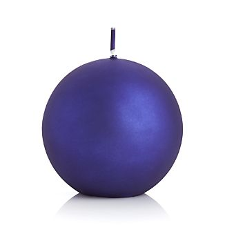 "Matte Indigo 3.5"" Ball Candle"