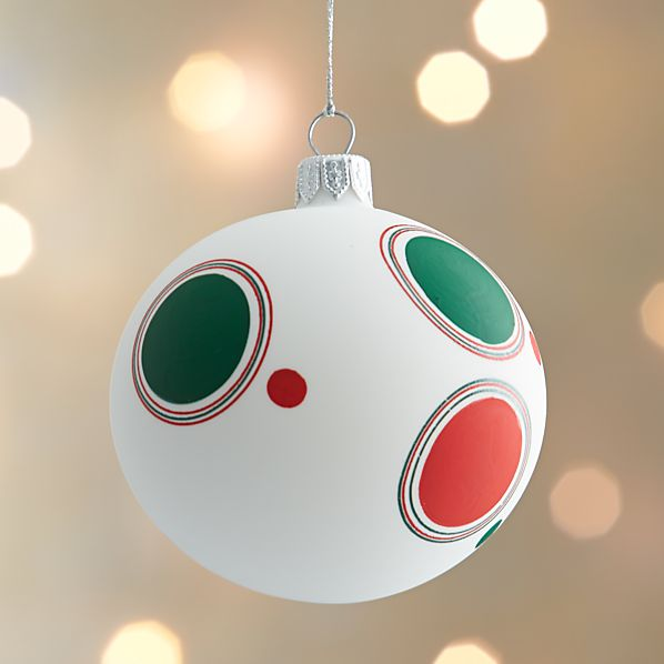 Matte Polkadot Design Ball Ornament