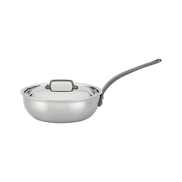 Mauviel M'cook Stainless-Steel 3-qt. Curved Sauté Pan