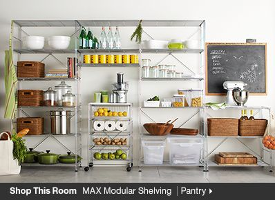 Shop This Room MAX Modular Shelving Pantry