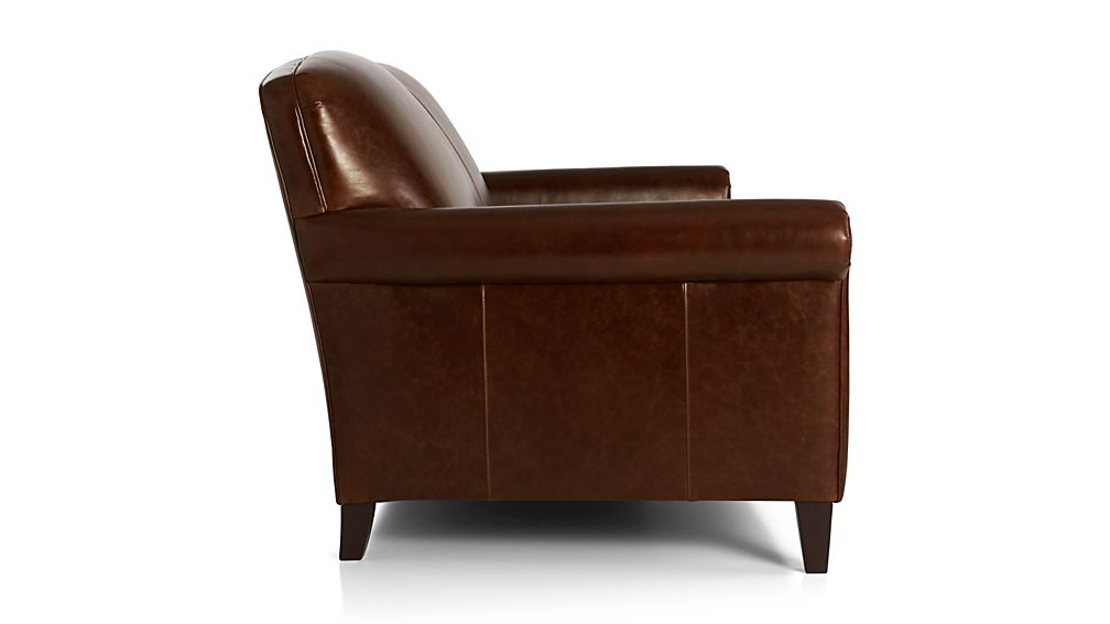 mcallister leather apartment sofa gordon crate and barrel