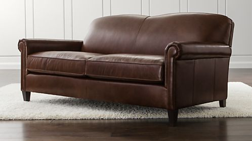 McAllister Leather Apartment Sofa