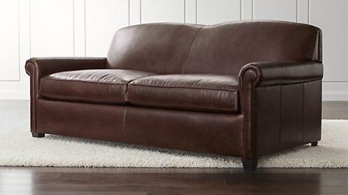 McAllister Leather Queen Sleeper Sofa