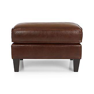 McAllister Leather Ottoman