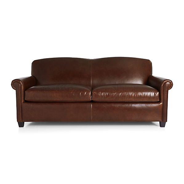 Mcallister Leather Queen Sleeper Sofa Gordon Crate And Barrel