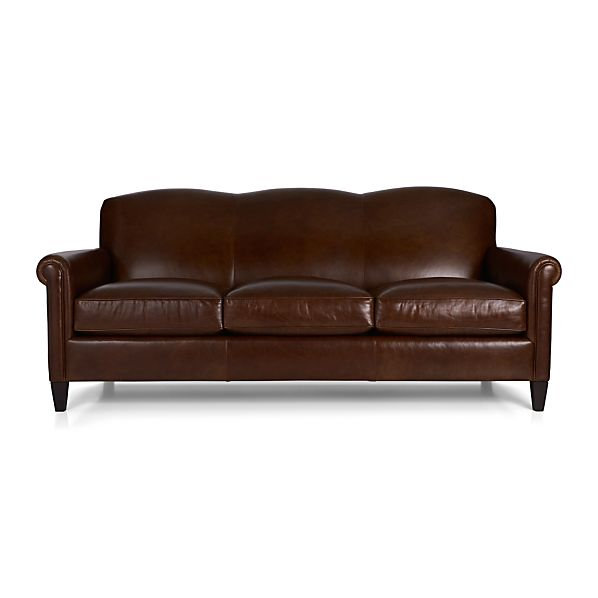 Mcallister leather sofa gordon crate and barrel for Crate and barrel sofa