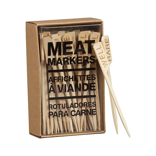 Set of 50 Bamboo Meat Markers