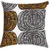 Marimekko Mehilispes Yellow and White 20&quot; Pillow