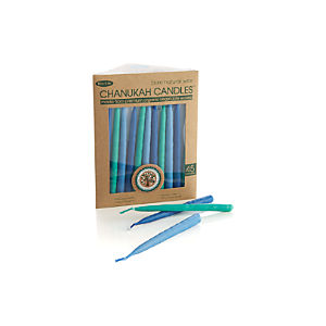 Blue Tonal Menorah Candles Set of 45