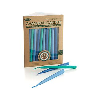 Set of 45 Blue Tonal Menorah Candles