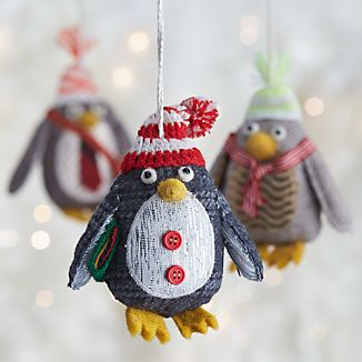 Menswear Penguin Ornaments