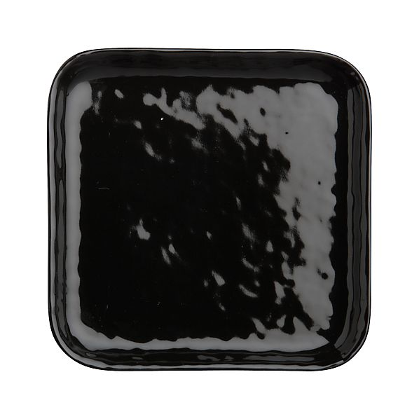 Mercer Black Square Appetizer Plate