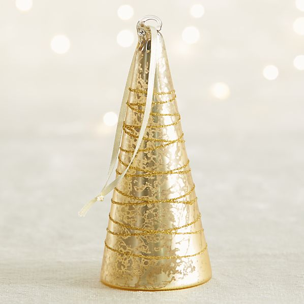 Gold Mercury Glass Tree Ornament
