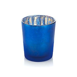 Mercury Blue Tealight Candle Holder