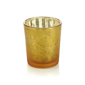 Mercury Gold Tealight Candle Holder