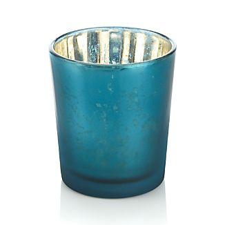Mercury Teal Tealight Candle Holder