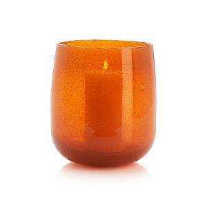 Bubble Orange Hurricane-Vase