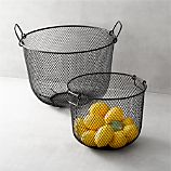 Black Mesh Bins with Handles