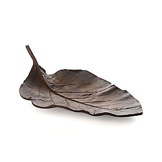 Metal Leaf Centerpiece Bowl