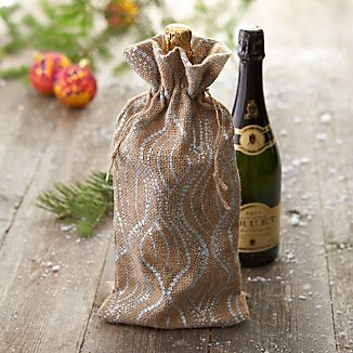 Metallic Burlap Champagne Bag