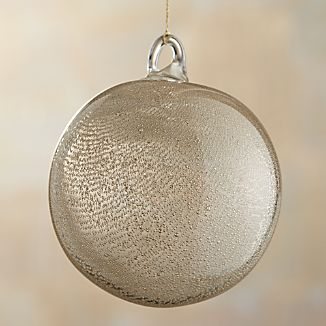 Metallic Art Glass Ball Ornament