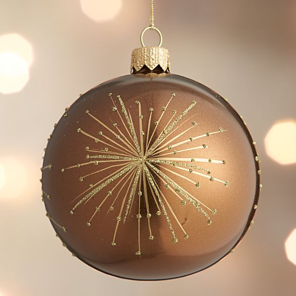 Bronze Metallic Firework Ball Ornament
