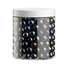 Metallic Black Marbles. 2 lb. jar.