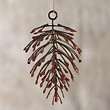 Bronze Metallic Pine Cone Ornament