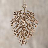 Champagne Metallic Pine Cone Ornament