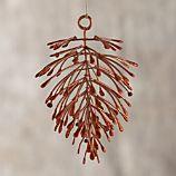 Copper Metallic Pine Cone Ornament