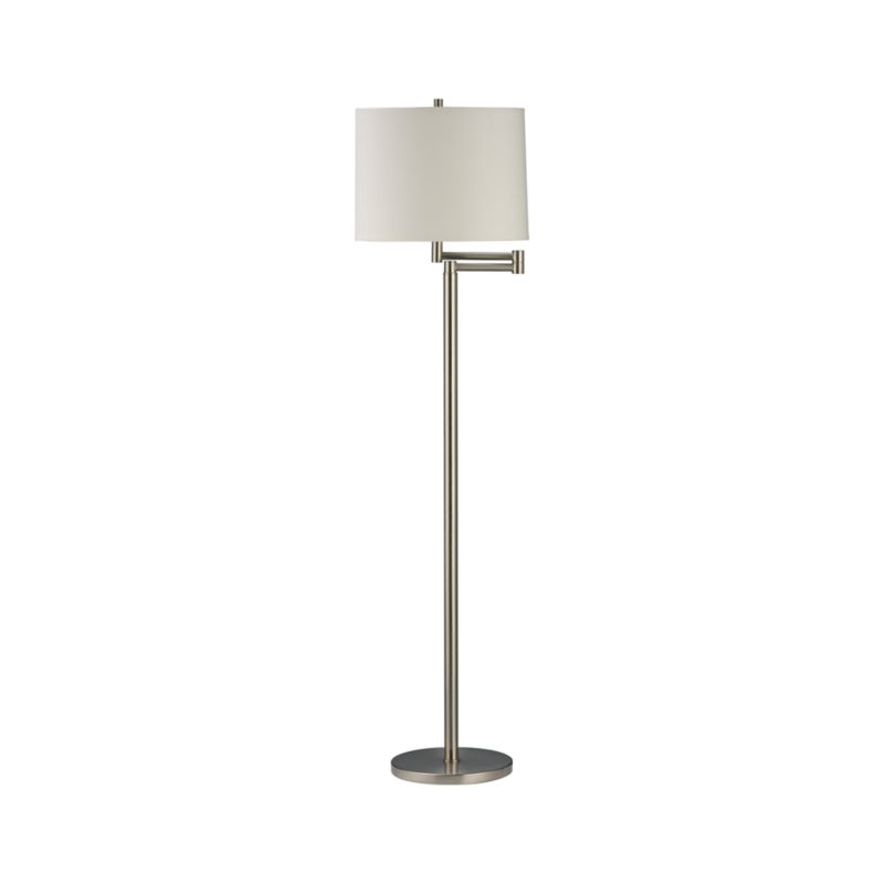 Metro Ii Brushed Nickel Swing Arm Floor Lamp Crate And